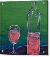 Wine Glass And Bottle Acrylic Print