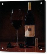Wine Glass And Bottle Acrylic Print