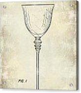 Wine Glass Patent Drawing Acrylic Print