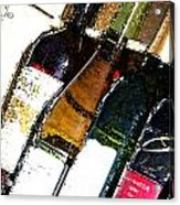 Wine In A Row Acrylic Print