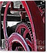 Wine Press Gears Acrylic Print
