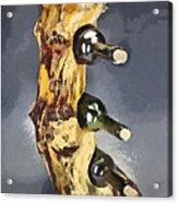 Wine Rack A Piece Of Wood Acrylic Print