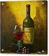 Wine Shadow Ombra Di Vino Acrylic Print by Italian Art