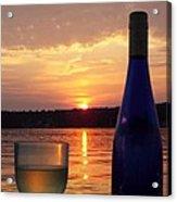 Wine Water Sunset Acrylic Print
