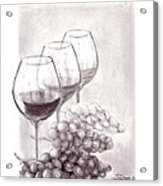 Wine Wine Wine Acrylic Print