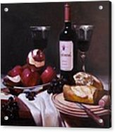 Wine With Peeled Apples Acrylic Print