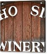 Winery Sign Acrylic Print