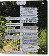 Winery Street Sign In The Sonoma California Wine Country 5d24601 Acrylic Print