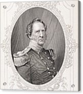 Winfield Scott 1786-1866 From The History Of The United States, Vol. II, By Charles Mackay Acrylic Print