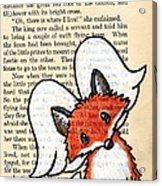 Winged Fox Acrylic Print