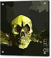 Winged Skull Acrylic Print