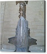 Winged Victory Of Samothrace Acrylic Print by Karen Maxwell