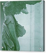 Winged Victory Of Samothrace Statue At The Louvre Museum        Acrylic Print