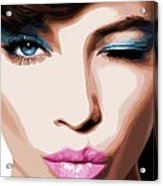 Wink - Pretty Faces Series Acrylic Print