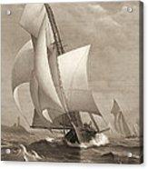 Winning Yacht 1885 Acrylic Print