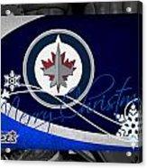 Winnipeg Jets Christmas Acrylic Print