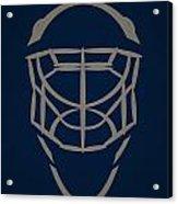Winnipeg Jets Goalie Mask Acrylic Print