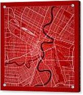 Winnipeg Street Map - Winnipeg Canada Road Map Art On Color Acrylic Print