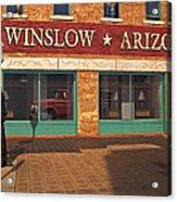 Winslow Arizona Acrylic Print