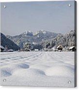 Winter Alpine Valley Acrylic Print