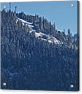 Winter And Mt Baldy Panorama Acrylic Print