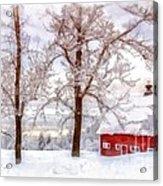 Winter Arrives Watercolor Acrylic Print