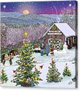 Winter At Campton Farm Acrylic Print