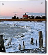 Winter At East Point Lighthouse  Acrylic Print