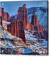 Winter At Fisher Towers Acrylic Print