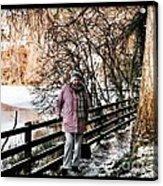 Winter At Frozen Lochside Acrylic Print