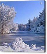 Winter At Lake Marmo Acrylic Print