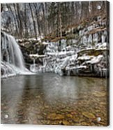 Winter At Lewis Falls Acrylic Print