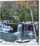 Winter At Mash Fork Falls Acrylic Print