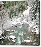 Winter At Mt Hood Acrylic Print