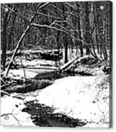 Winter At Pedelo Black And White Acrylic Print