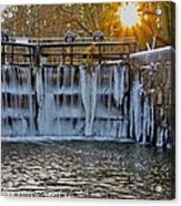 Winter At The Canal Acrylic Print