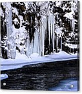 Winter At The Creek Acrylic Print