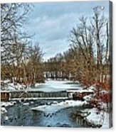 Winter At The Mattabeset River Acrylic Print