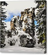 Winter At The Stony Summit Acrylic Print by Aged Pixel