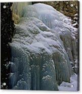 Winter At Zapata Falls Acrylic Print