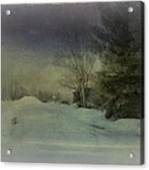 Winter Atmosphere  Acrylic Print by Dianne  Lacourciere