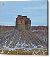 Winter Banded Butte Acrylic Print