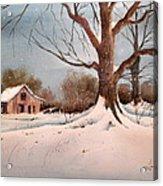 Winter Barn # 5 Acrylic Print