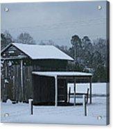 Winter Barn Acrylic Print by Nelson Watkins