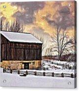 Winter Barn - Paint Acrylic Print
