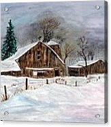 Winter Barns Acrylic Print