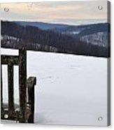 Winter Bench Acrylic Print