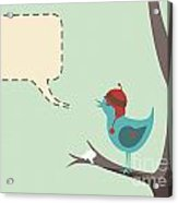 Winter Bird Acrylic Print