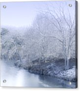 Winter Blue And White Acrylic Print