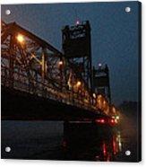 Winter Bridge In Fog 2 Acrylic Print
